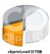 Clipart Of A 3d Pie Chart Icon Royalty Free Vector Illustration