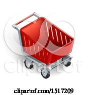 3d Red Shopping Cart