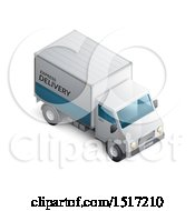 Clipart Of A 3d Delivery Truck Royalty Free Vector Illustration