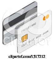 Clipart Of A 3d Credit Card Icon Royalty Free Vector Illustration