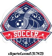 Red White And Blue Soccer Design