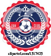 Red White And Blue Soccer Fan Club Design