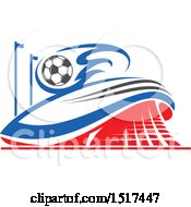 Clipart Of A Soccer Stadium Design Royalty Free Vector Illustration by Vector Tradition SM