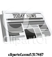 Clipart Of A News Paper Royalty Free Vector Illustration by Vector Tradition SM