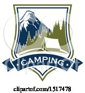 Clipart Of A Camping Design Royalty Free Vector Illustration