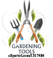 Clipart Of A Gardening Tool Design Royalty Free Vector Illustration