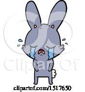 Cute Cartoon Rabbit Crying