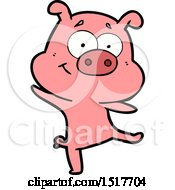 Happy Cartoon Pig Dancing