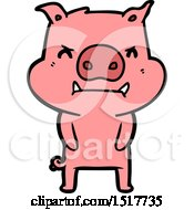 Angry Cartoon Pig