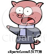 Cartoon Pig Shouting