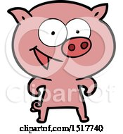 Cheerful Pig Cartoon