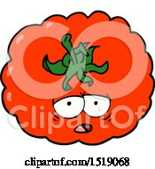 Cartoon Tomato by lineartestpilot