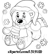 Black And White Christmas Teddy Bear
