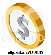 3d Dollar Coin Icon