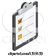 3d Check List Icon