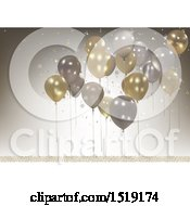 3d Party Balloon Background
