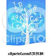 Winter Tree With Alphabet Letters