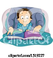 Clipart Of A Father Reading A Story To A Happy Baby Boy Royalty Free Vector Illustration
