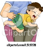 Poster, Art Print Of Father Spanking His Son