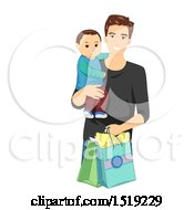 Poster, Art Print Of Father Shopping With His Son