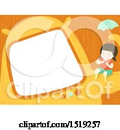 Poster, Art Print Of Border Of A Girl Clapping On A Monster Arm