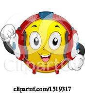 Poster, Art Print Of Yellow Smiley Emoji Wrestler