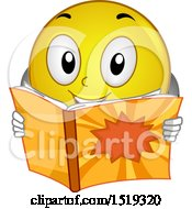 Poster, Art Print Of Yellow Smiley Emoji Reading A Comic Book