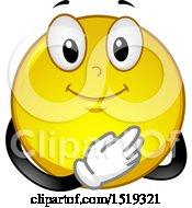 Poster, Art Print Of Yellow Smiley Emoji Pledging Allegiance