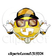 Clipart Of A Yellow Smiley Emoji Hip Hop Gangster Royalty Free Vector Illustration