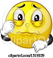 Clipart Of A Yellow Smiley Emoji About To Cry Royalty Free Vector Illustration by BNP Design Studio