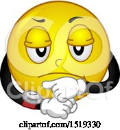Poster, Art Print Of Yellow Smiley Emoji Looking Annoyed And Pointing To A Watch