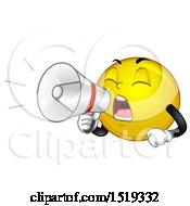 Poster, Art Print Of Yellow Smiley Emoji Using A Bullhorn