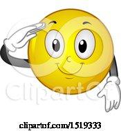 Poster, Art Print Of Yellow Smiley Emoji Saluting