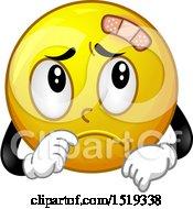 Poster, Art Print Of Sad Bandanged Yellow Smiley Emoji