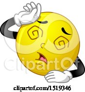 Poster, Art Print Of Yellow Smiley Emoji Fainting
