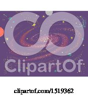 Clipart Of A Purple Galaxy Background Royalty Free Vector Illustration