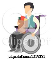 Wheelchaired Man Carrying Groceries