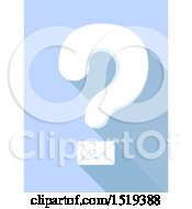 Clipart Of A Question Mark With An Envelope Royalty Free Vector Illustration by BNP Design Studio