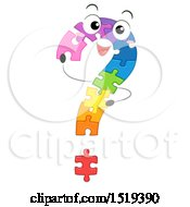 Clipart Of A Colorful Jigsaw Puzzle Question Mark Royalty Free Vector Illustration by BNP Design Studio