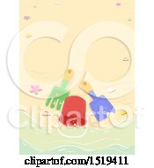 Clipart Of A Bucket And Beach Toys Royalty Free Vector Illustration by BNP Design Studio