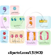 Clipart Of Comma Period Apostrophe Quotation Marks Semicolon Hyphen Colon Ellipsis Brackets And Parenthesis Punctuation Characters Royalty Free Vector Illustration by BNP Design Studio