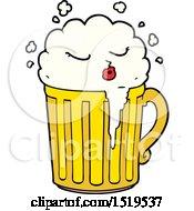 Cartoon Mug Of Beer by lineartestpilot