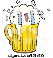 Cartoon Mug Of Beer Crying by lineartestpilot