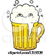 Happy Cartoon Mug Of Beer by lineartestpilot