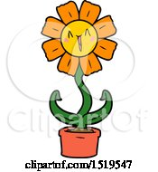 Happy Cartoon Flower by lineartestpilot
