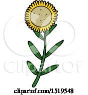 Poster, Art Print Of Cartoon Sunflower