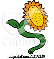 Cartoon Sunflower by lineartestpilot
