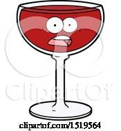 Cartoon Glass Of Wine by lineartestpilot
