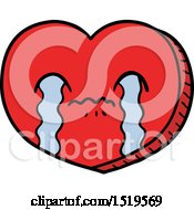 Cartoon Crying Love Heart