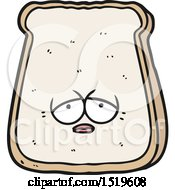 Cartoon Tired Old Slice Of Bread by lineartestpilot